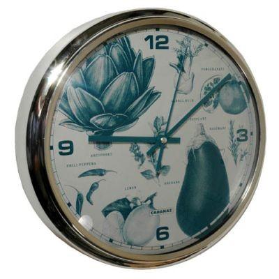Cabanaz - Retro Wanduhr Uhr, Ø 30cm Victoria-Petrol