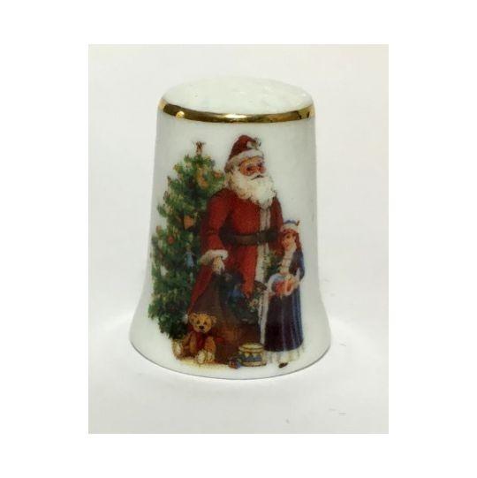 """Reutter Porzellan Miniaturen - Fingerhut """"Weihnachtsmann"""" (8.244/0) Weihnachten"""