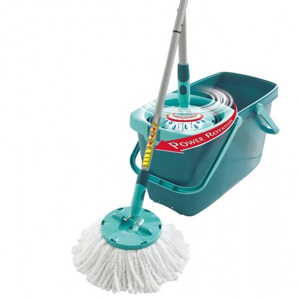 Leifheit - CLEAN TWIST Mop inkl. Wischmop Schleudersieb Eimer 52019
