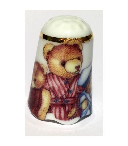 """Reutter Porzellan Miniaturen - Fingerhut """"Teddy"""" Teddybär Motiv 1 (3.256/7)"""