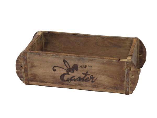 "Laursen Ziegelform ""happy Easter"" Unika alte Backsteinform Holz Box Kiste"