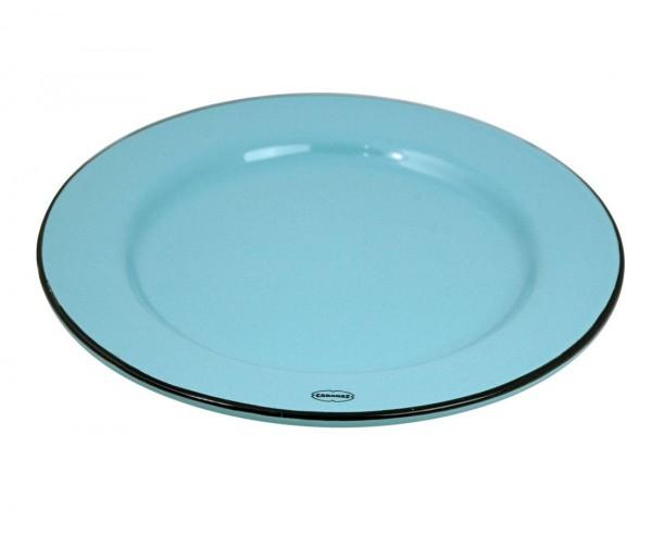Cabanaz - Teller Keramik Ø 22cm Blau 1201765 Kuchenteller Frühstücksteller Retro
