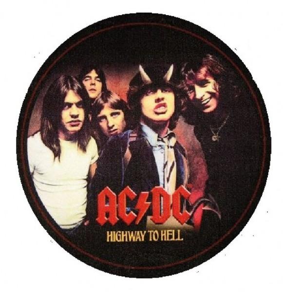 """Rockbites - Teppich """"AC/DC Highway to Hell"""" Ø1m Läufer Fuß Schmutz- Matte 100863"""