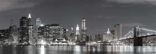 "Glasbild "" New York Brücke SW "" 95x33cm, Glasbilder Wandbild Bild 2047"