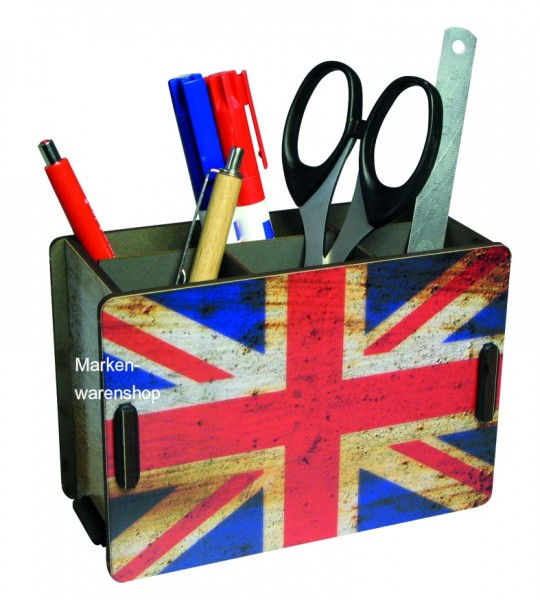 Werkhaus - Stiftebox Flagge England Stifteköcher Stiftehalter Penbox (PP2148)