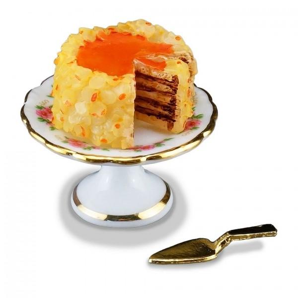 Reutter Porzellan Miniaturen - Nusstorte Torte Kuchen 1.660/5 Puppenstube Deko