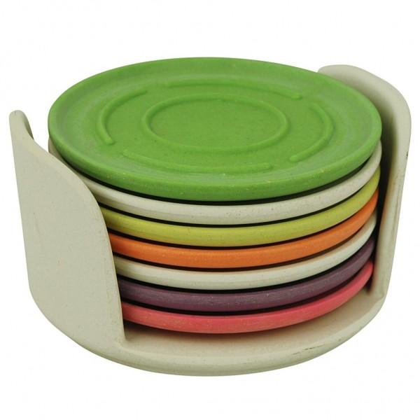 Zuperzozial - Untersetzer 7'er Set Glasuntersetzer Coaster Rainbow Col. 1400616