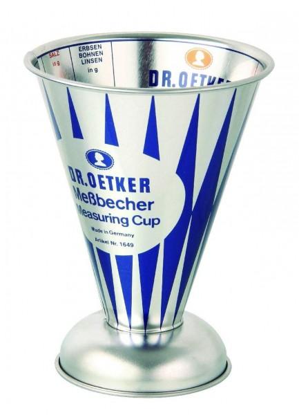 Dr. Oetker - Messbecher Nostalgie 0,5 Liter Metall (1649) Retro Maßbecher