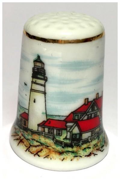 """Reutter Porzellan Miniaturen - Fingerhut """"Leuchtturm"""" Motiv 2 (80.244/1)"""