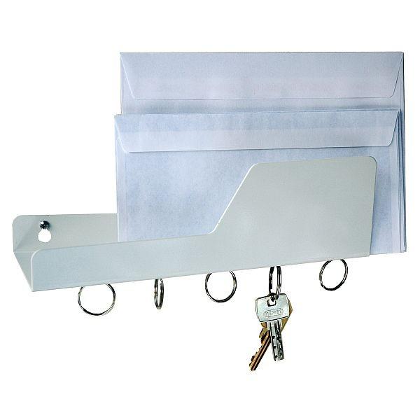 Cabanaz - Post- und Schlüsselhalter Schlüsselbrett weiß