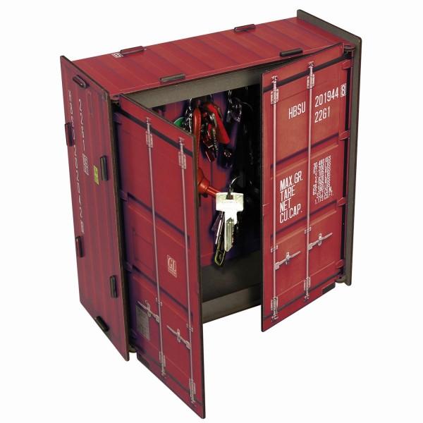 """Werkhaus Schlüsselkasten """"Container"""" Rot CO1062 Schlüsselschrank Schlüsselbrett"""