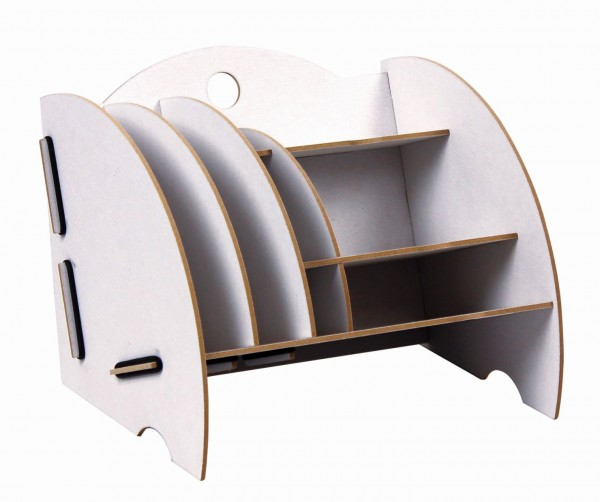 Werkhaus - Ablage Mini Organizer Weiß Briefablage Stiftehalter Box Schreibtisch