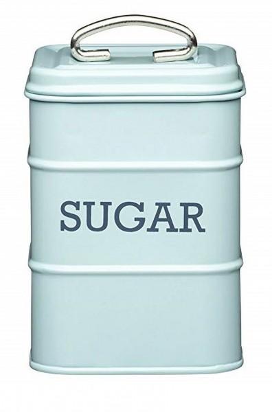 KitchenCraft - Zuckerdose Zucker Vorratsdose Vorratsbehälter Blau (LNSUGARBLU)