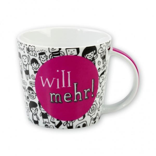 "Sheepworld Gruss & Co - Tasse ""Will mehr"" 32cl Kaffeetasse Kaffeebecher 42725"