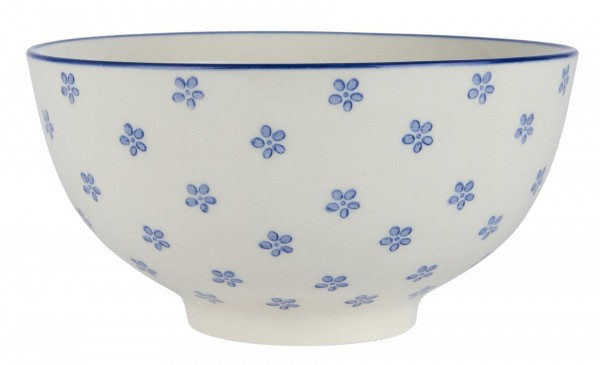 Schale Schüssel Müslischale Dipschale 12cm Casablanca Bloom Blau Laursen 1535-13