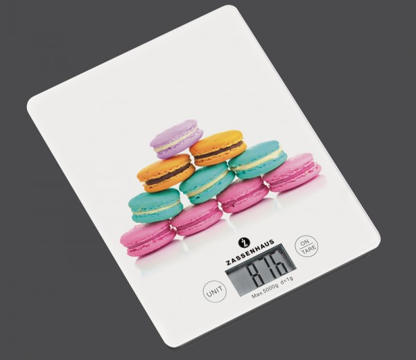 Zassenhaus - digitale Küchenwaage BALANCE Macaron 073348 Digitalwaage